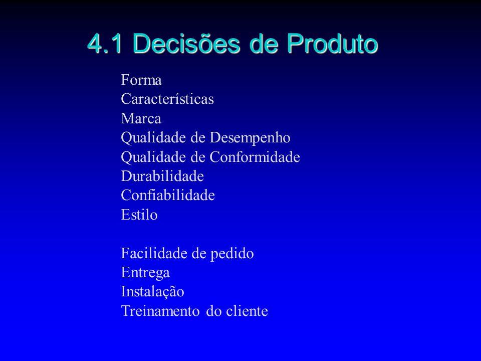 4.1 Decisões de Produto Forma Características Marca