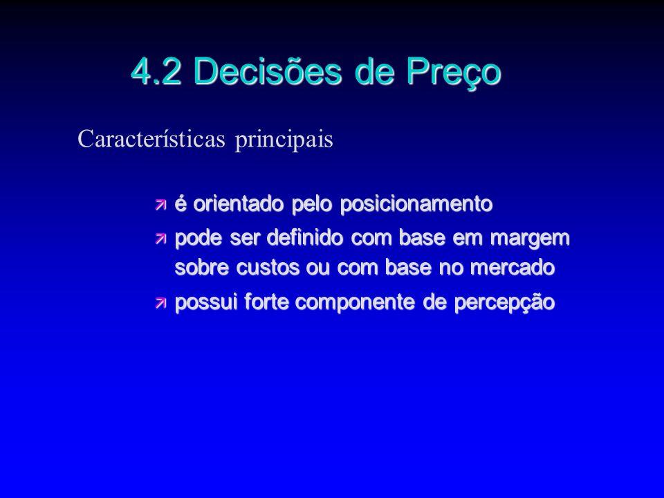 4.2 Decisões de Preço Características principais