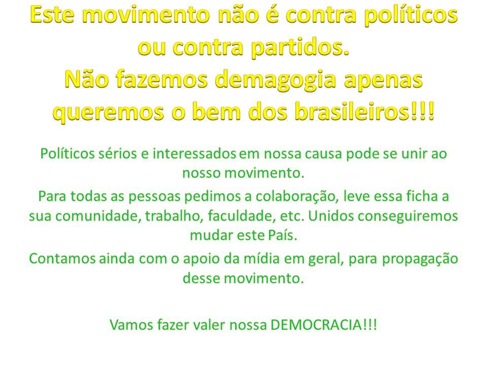 Vamos fazer valer nossa DEMOCRACIA!!!