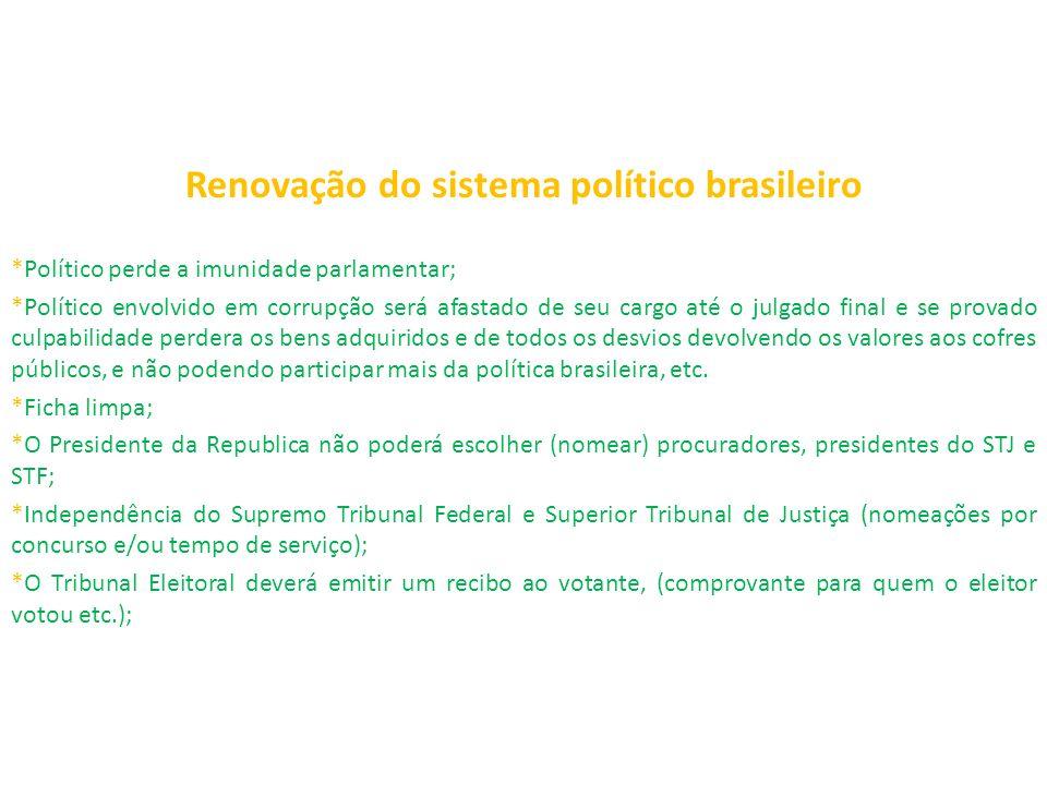 Renovação do sistema político brasileiro