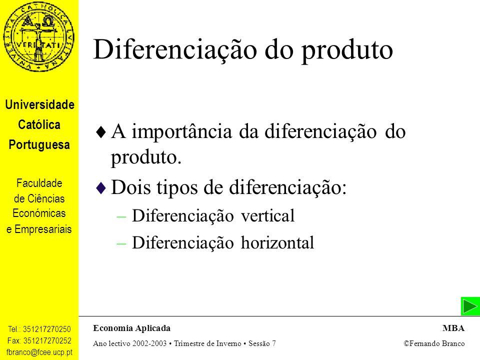 Diferenciação do produto