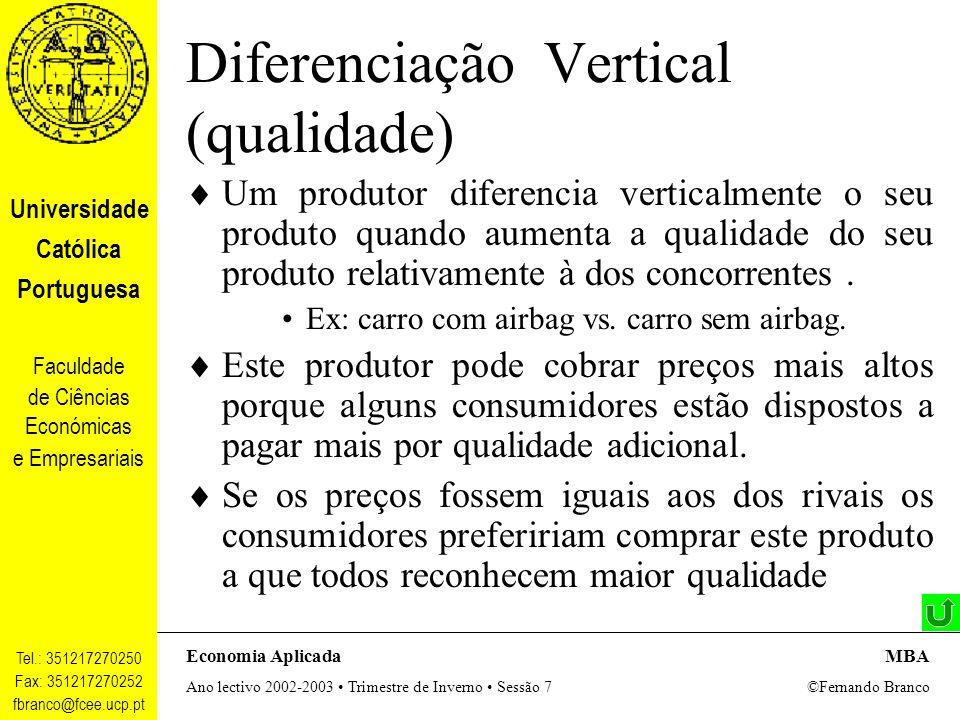Diferenciação Vertical (qualidade)