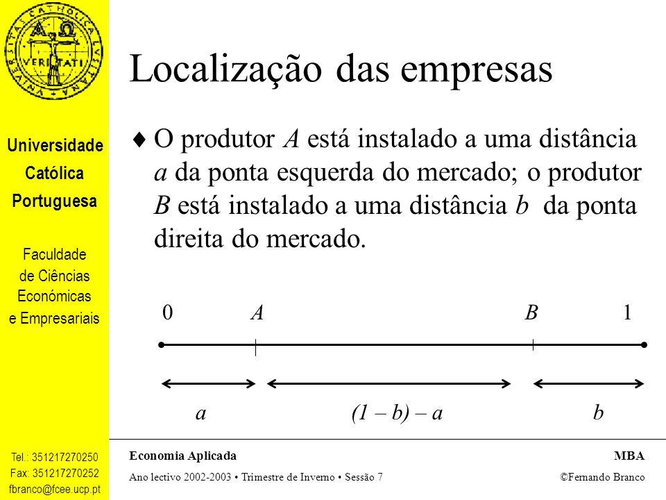 Localização das empresas
