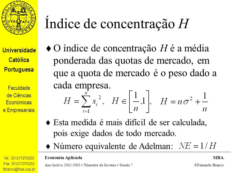 Índice de concentração H