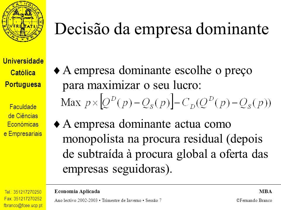 Decisão da empresa dominante