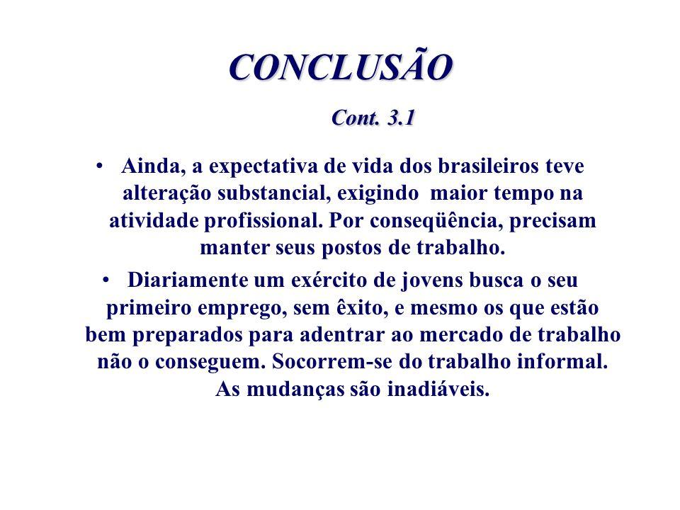 CONCLUSÃO Cont. 3.1