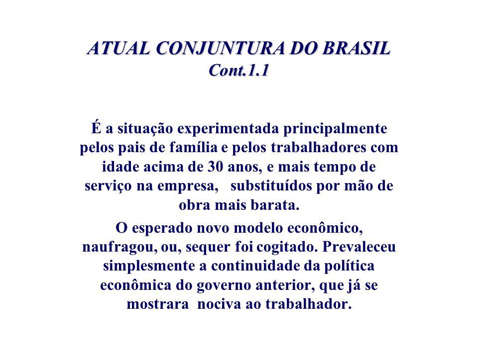 ATUAL CONJUNTURA DO BRASIL Cont.1.1
