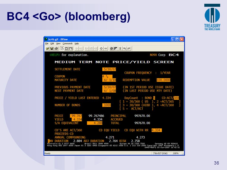 BC4 <Go> (bloomberg)