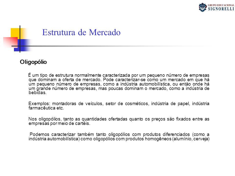 Estrutura de Mercado Oligopólio