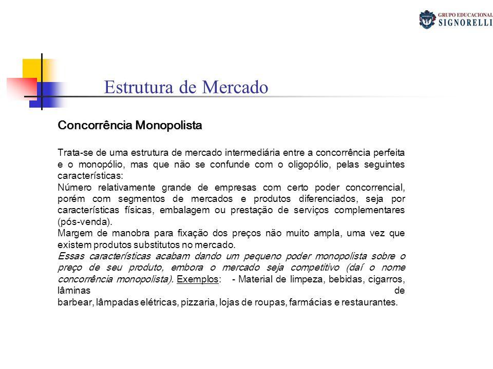 Estrutura de Mercado Concorrência Monopolista
