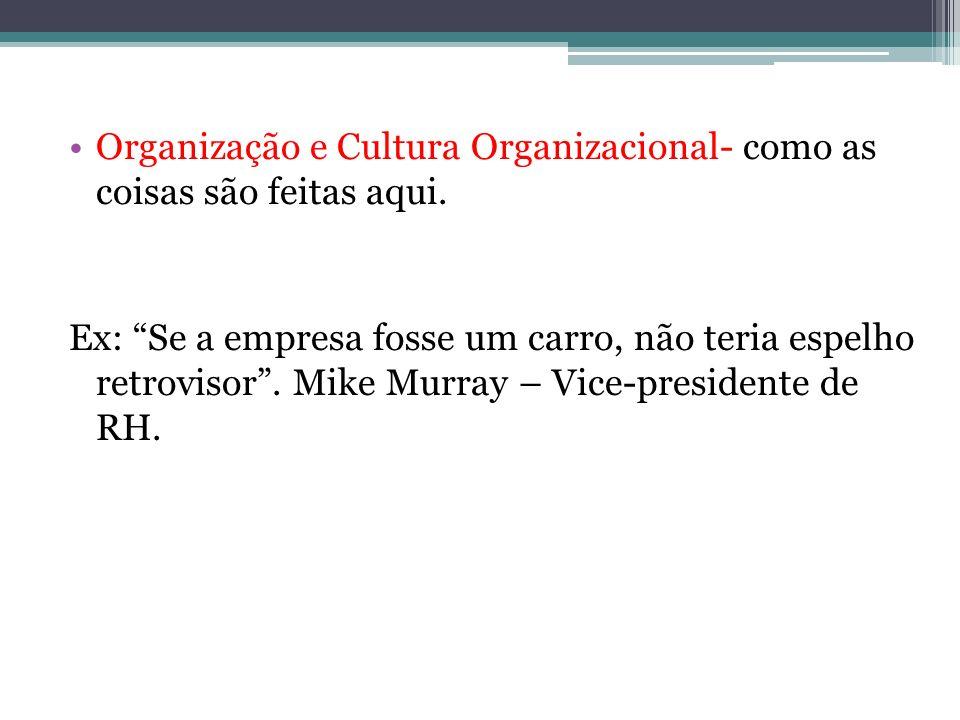 Organização e Cultura Organizacional- como as coisas são feitas aqui.