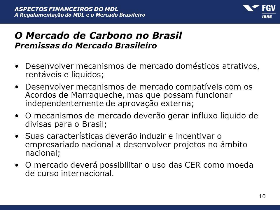 O Mercado de Carbono no Brasil Premissas do Mercado Brasileiro