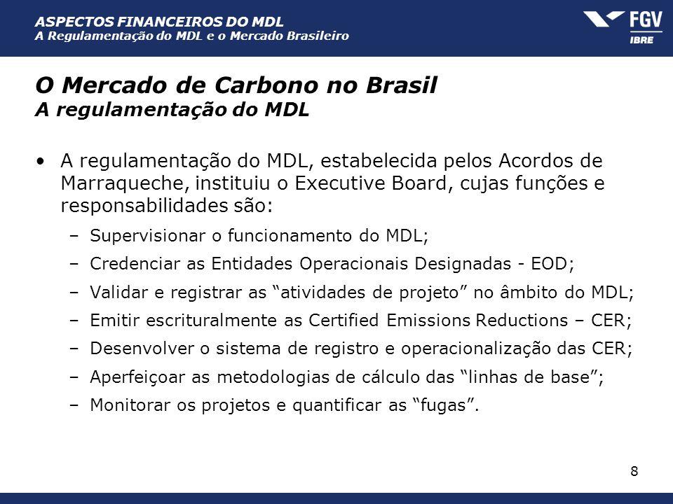 O Mercado de Carbono no Brasil A regulamentação do MDL