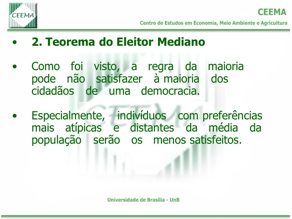 2. Teorema do Eleitor Mediano