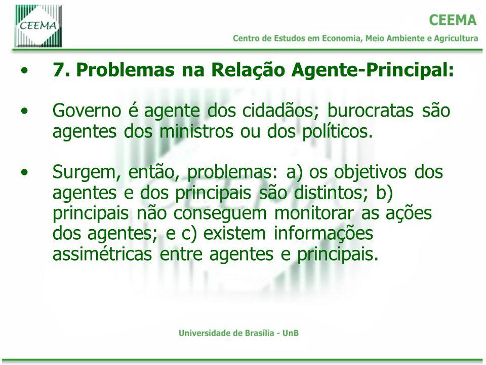 7. Problemas na Relação Agente-Principal: