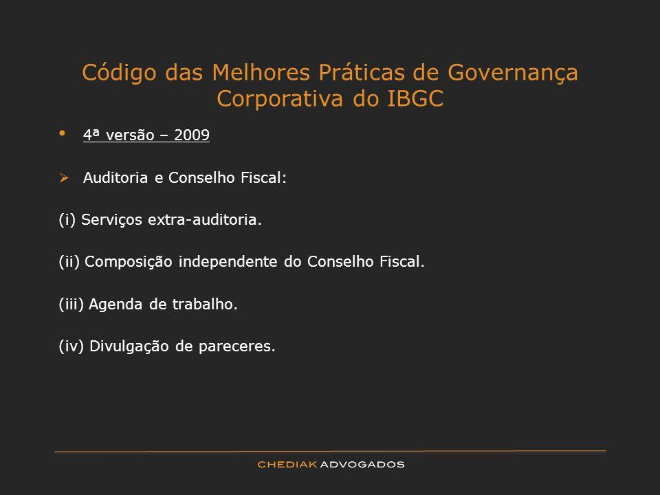 Código das Melhores Práticas de Governança Corporativa do IBGC