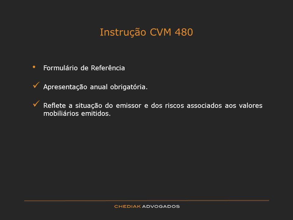 Instrução CVM 480 Formulário de Referência