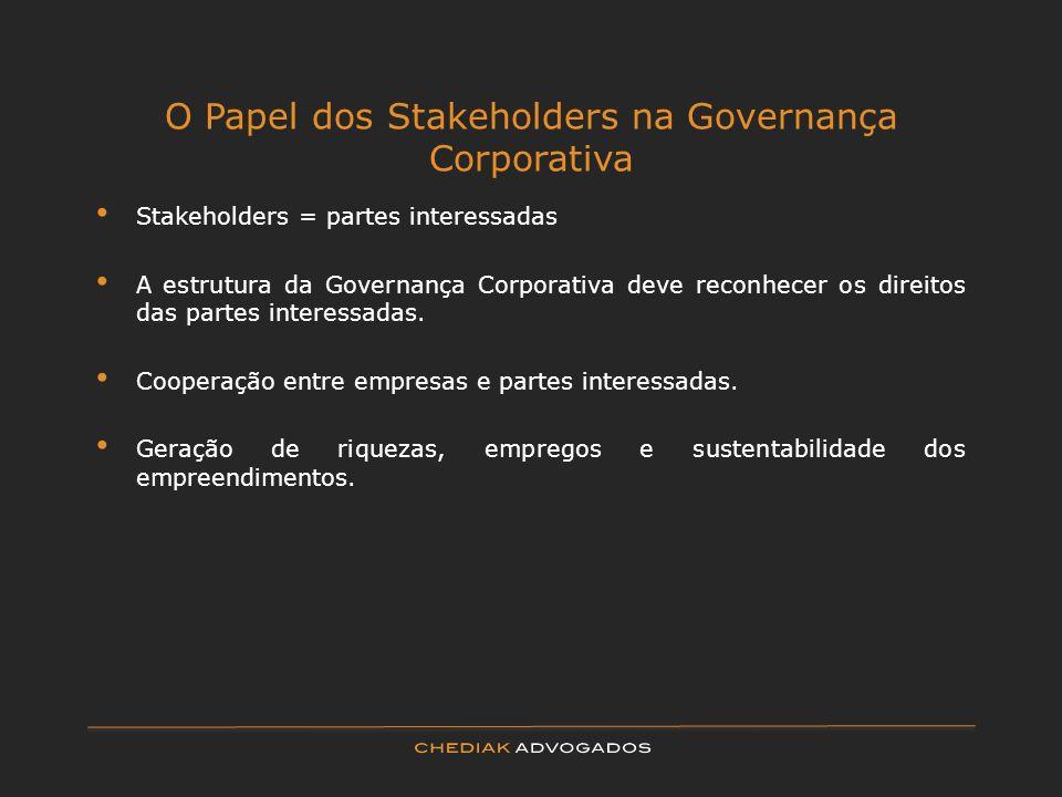 O Papel dos Stakeholders na Governança Corporativa