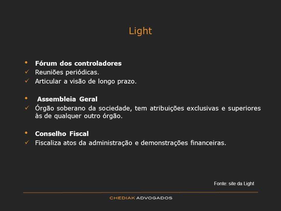 Light Fórum dos controladores Reuniões periódicas.