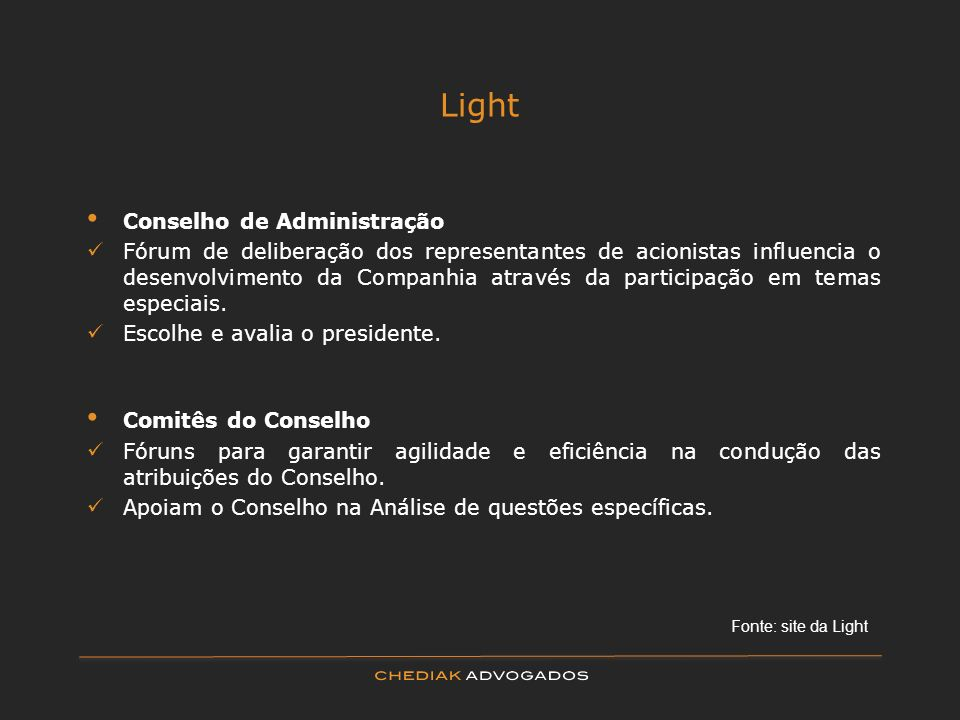 Light Conselho de Administração