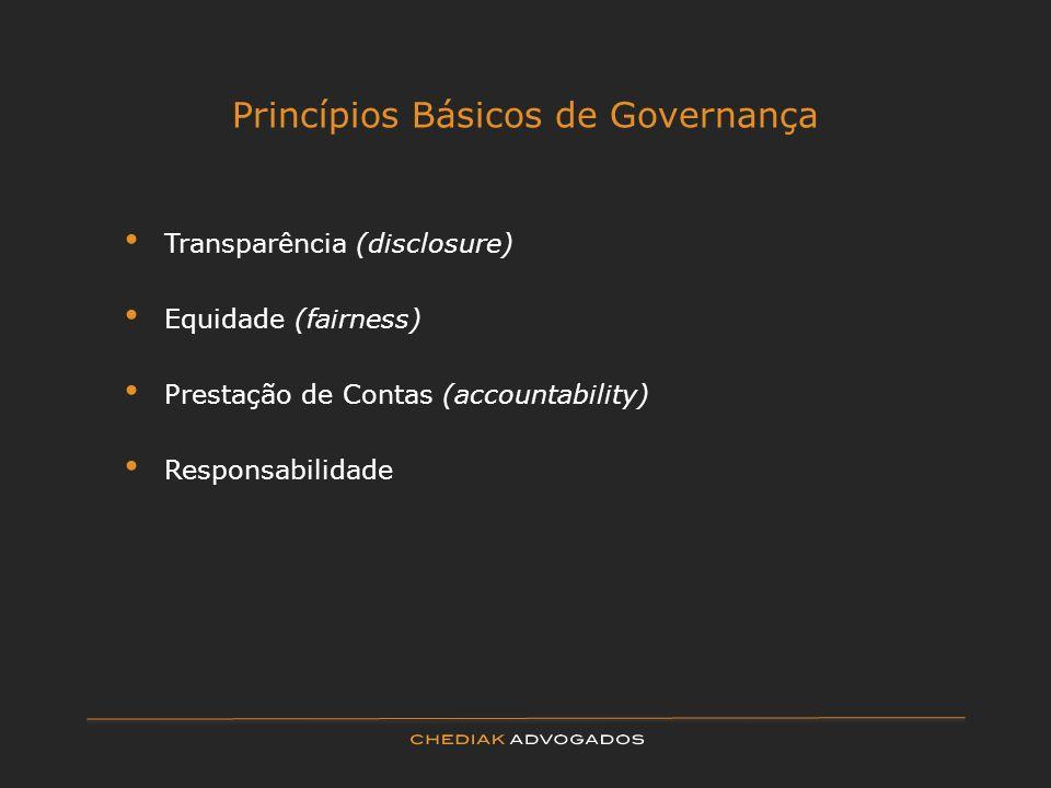 Princípios Básicos de Governança