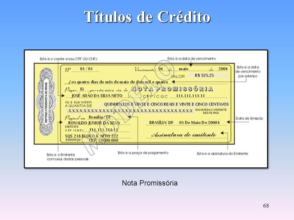 Títulos de Crédito Nota Promissória