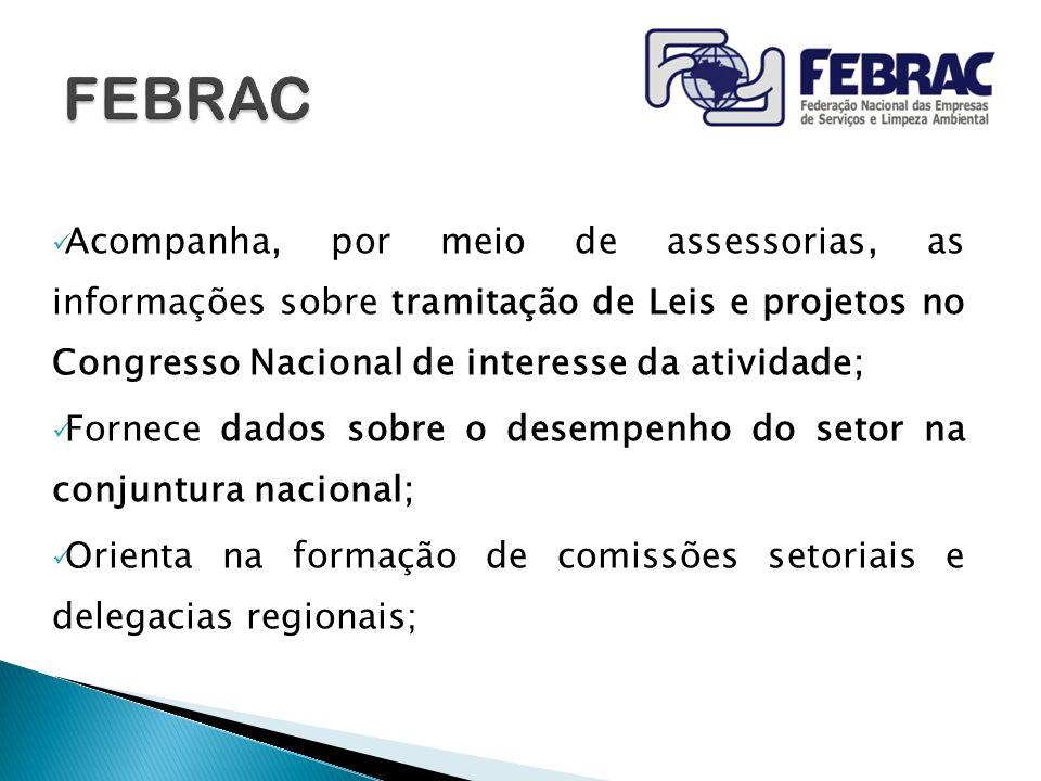 FEBRAC Acompanha, por meio de assessorias, as informações sobre tramitação de Leis e projetos no Congresso Nacional de interesse da atividade;