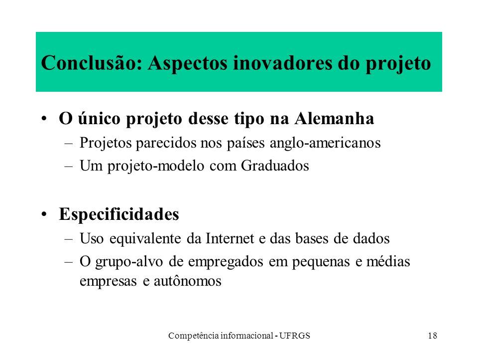 Conclusão: Aspectos inovadores do projeto