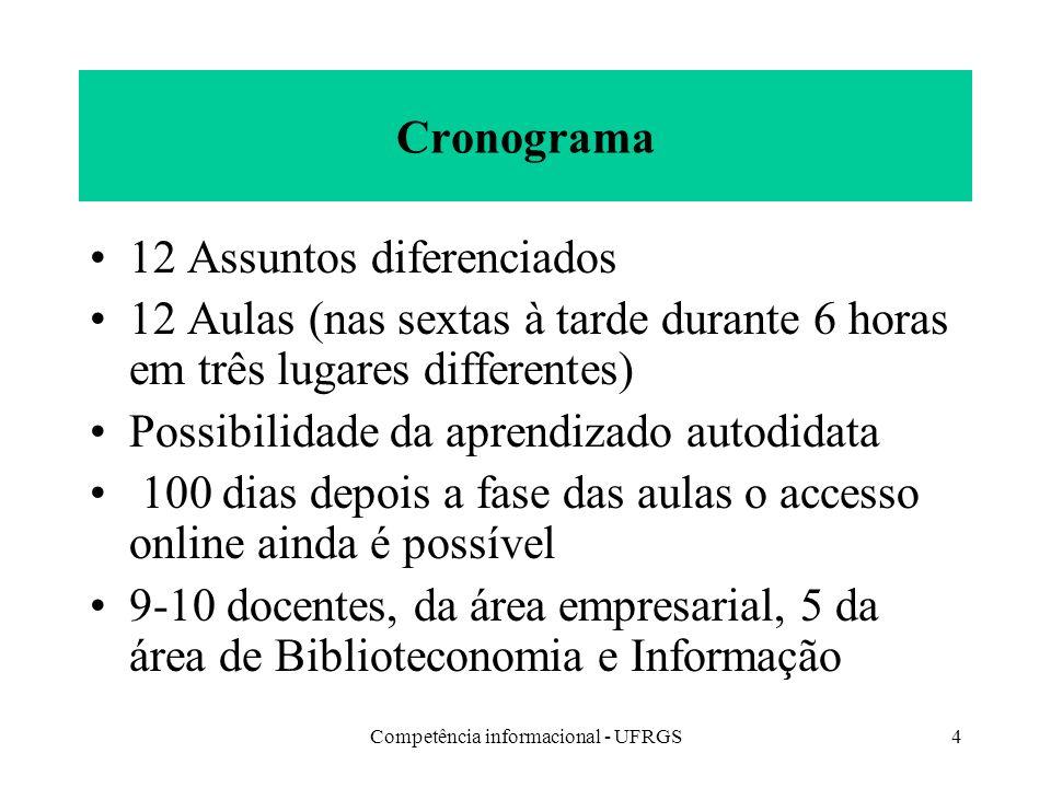 Competência informacional - UFRGS