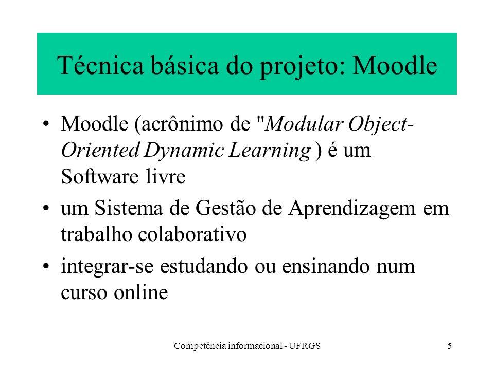 Técnica básica do projeto: Moodle