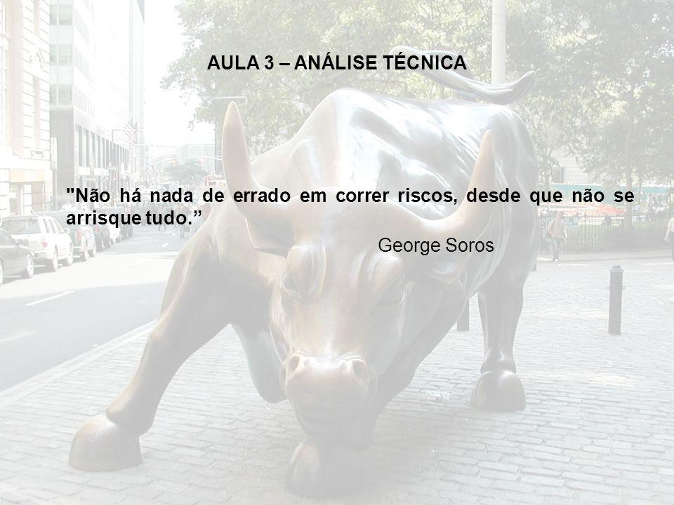 AULA 3 – ANÁLISE TÉCNICA Não há nada de errado em correr riscos, desde que não se arrisque tudo. George Soros