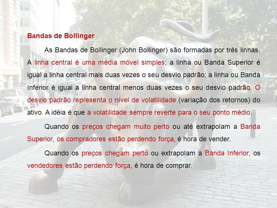 Bandas de Bollinger As Bandas de Bollinger (John Bollinger) são formadas por três linhas.