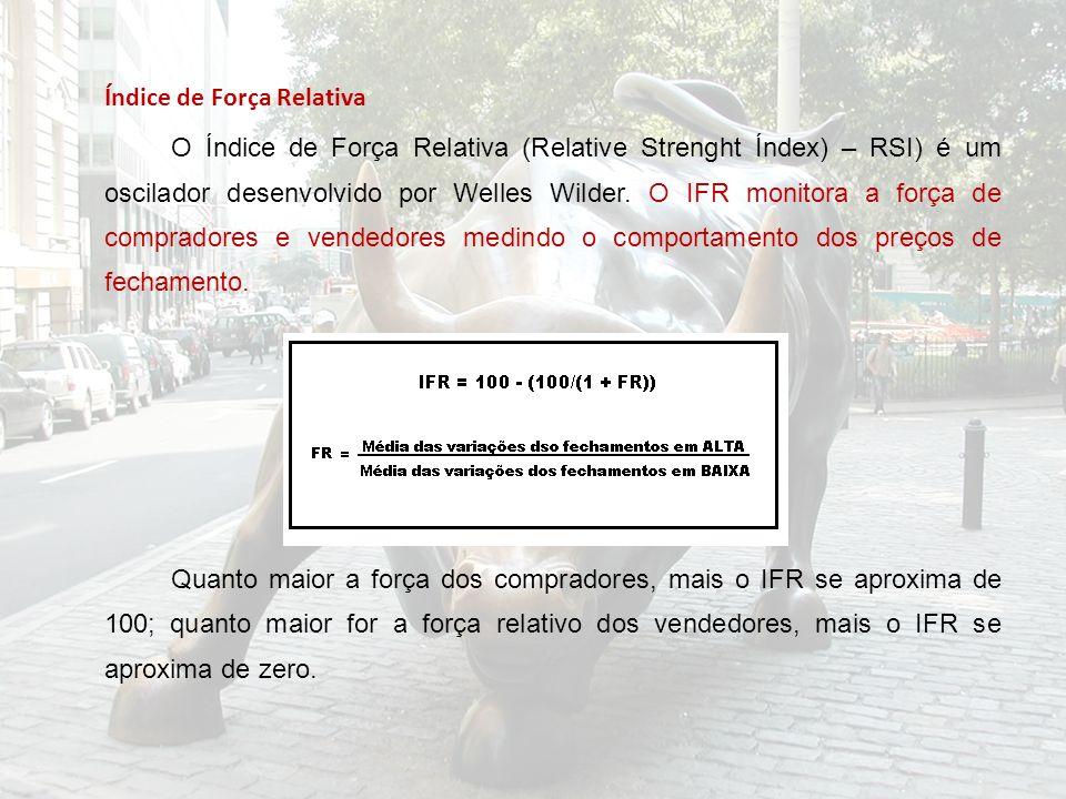 Índice de Força Relativa O Índice de Força Relativa (Relative Strenght Índex) – RSI) é um oscilador desenvolvido por Welles Wilder.
