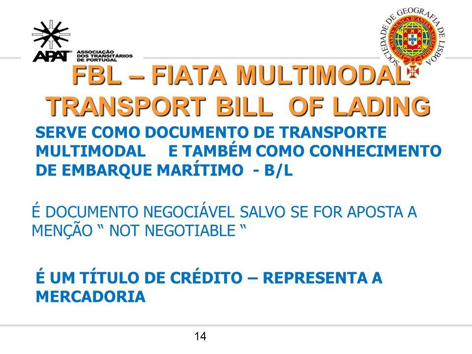 FBL – FIATA MULTIMODAL TRANSPORT BILL OF LADING