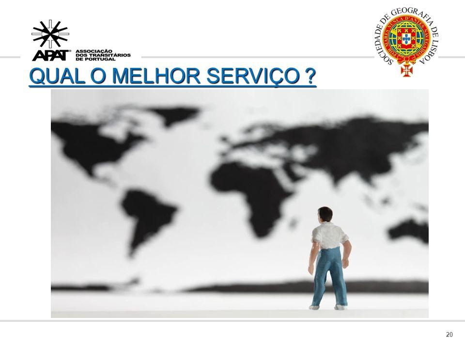 QUAL O MELHOR SERVIÇO