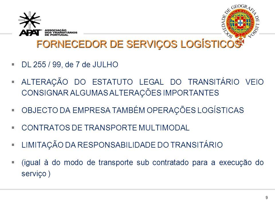 FORNECEDOR DE SERVIÇOS LOGÍSTICOS