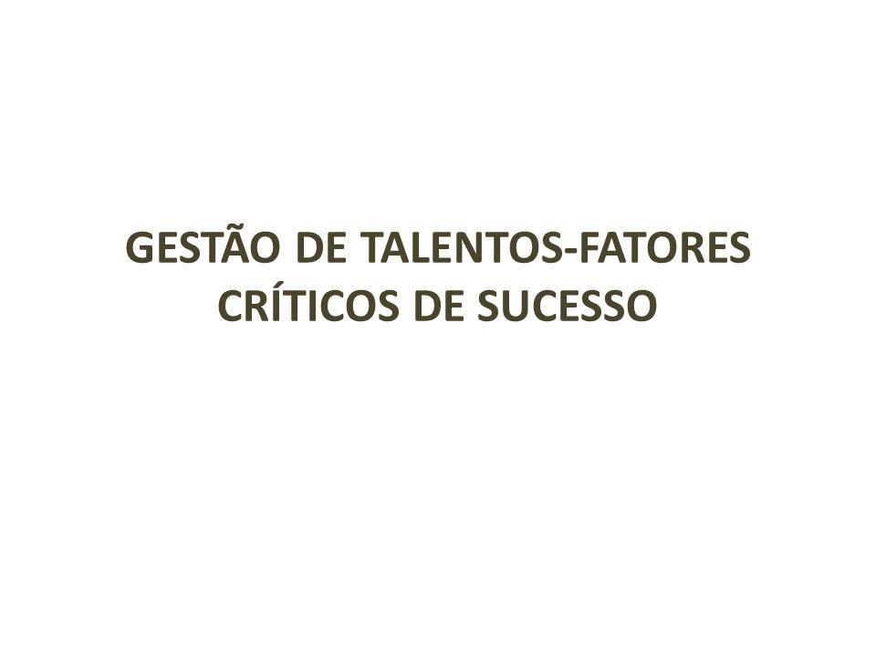 GESTÃO DE TALENTOS-FATORES CRÍTICOS DE SUCESSO