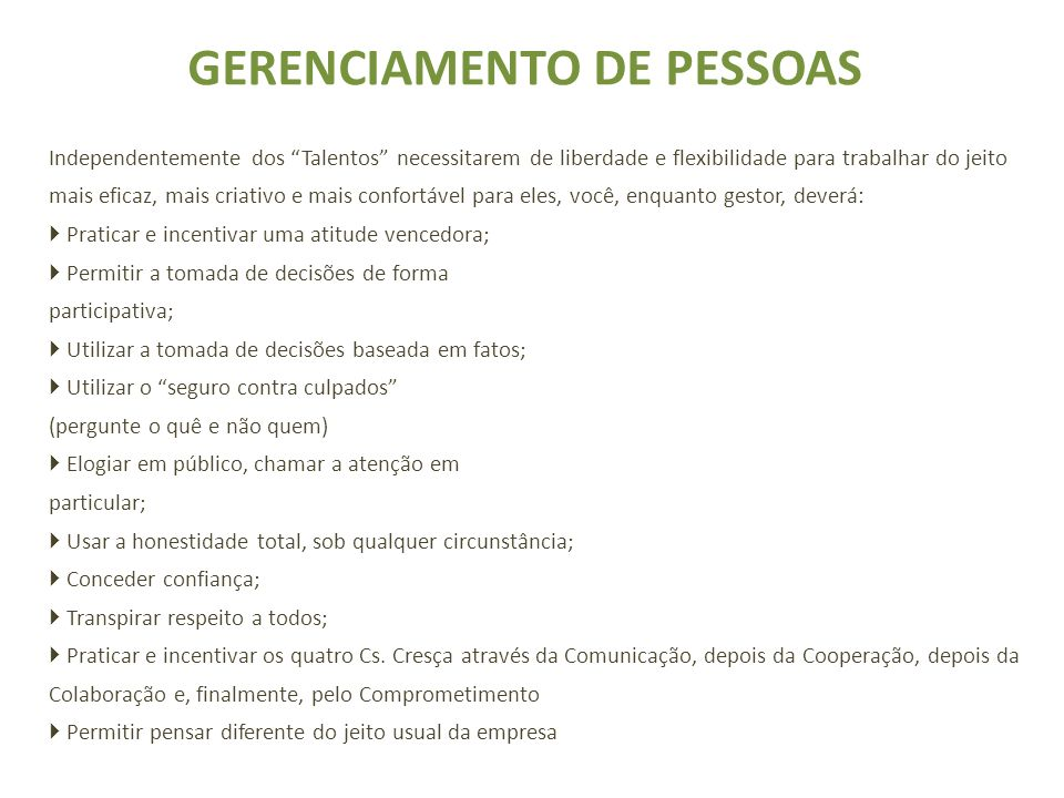GERENCIAMENTO DE PESSOAS