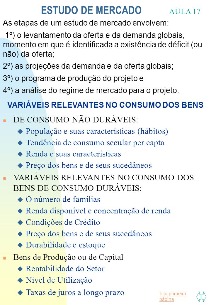 VARIÁVEIS RELEVANTES NO CONSUMO DOS BENS