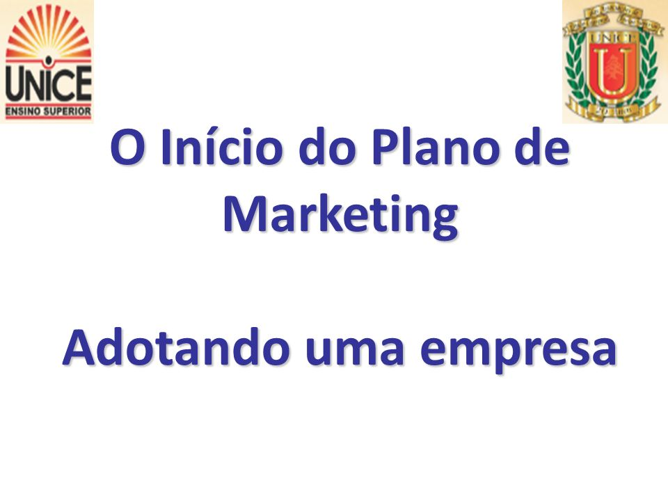 O Início do Plano de Marketing
