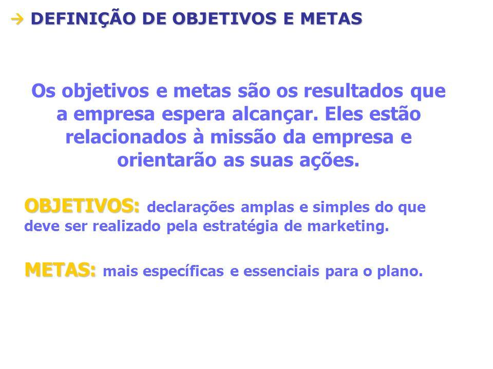 METAS: mais específicas e essenciais para o plano.