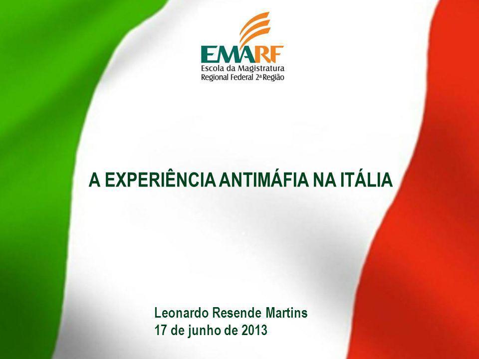 A EXPERIÊNCIA ANTIMÁFIA NA ITÁLIA
