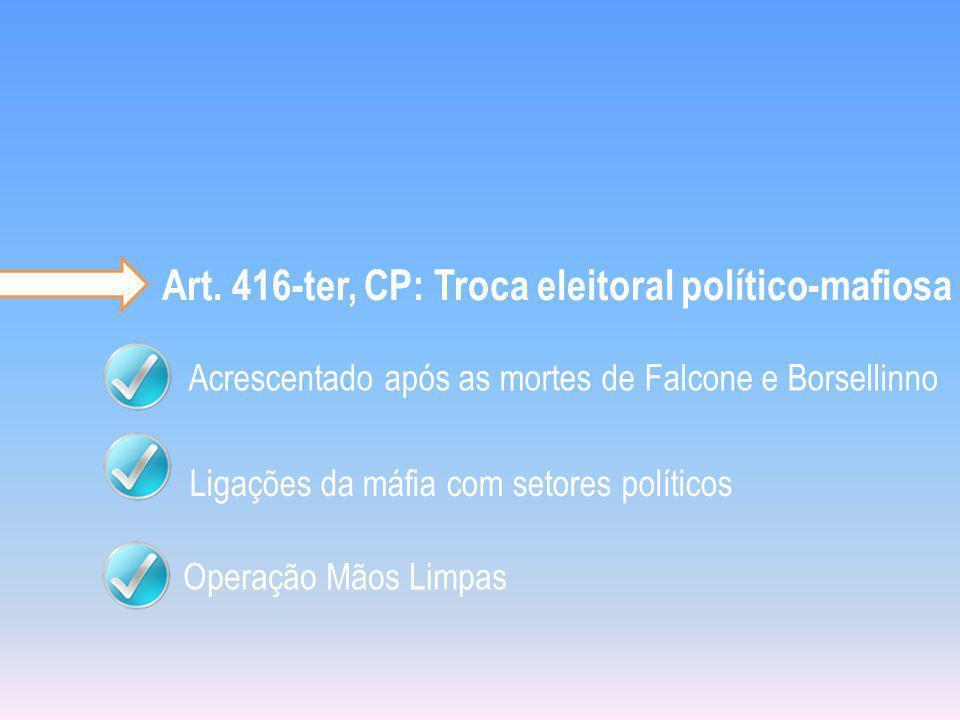 Art. 416-ter, CP: Troca eleitoral político-mafiosa
