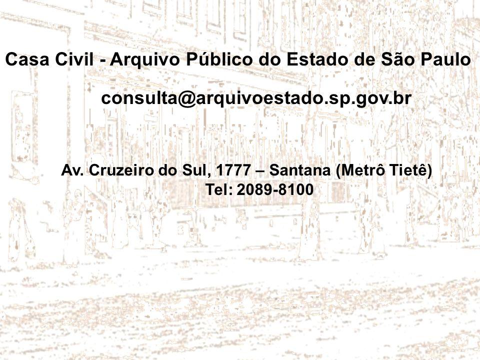 Casa Civil - Arquivo Público do Estado de São Paulo