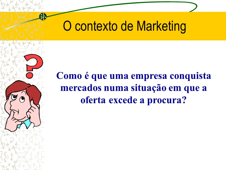 O contexto de Marketing