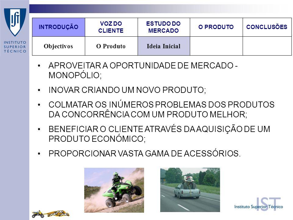 APROVEITAR A OPORTUNIDADE DE MERCADO - MONOPÓLIO;