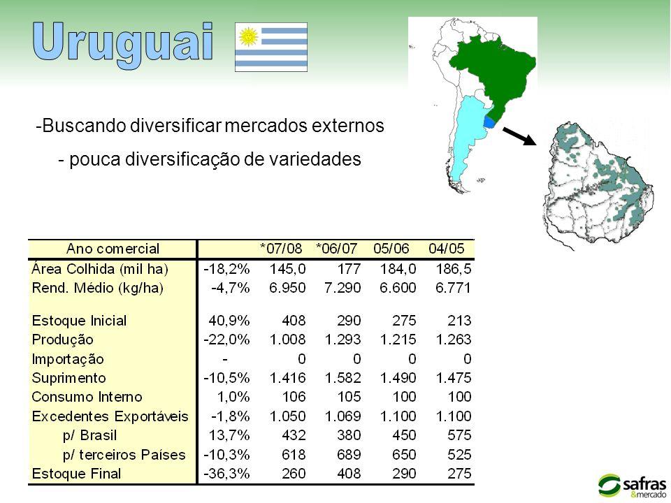 Uruguai Buscando diversificar mercados externos