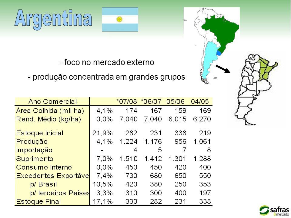 Argentina - foco no mercado externo