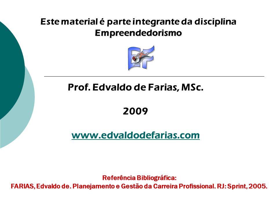 Prof. Edvaldo de Farias, MSc. 2009 www.edvaldodefarias.com
