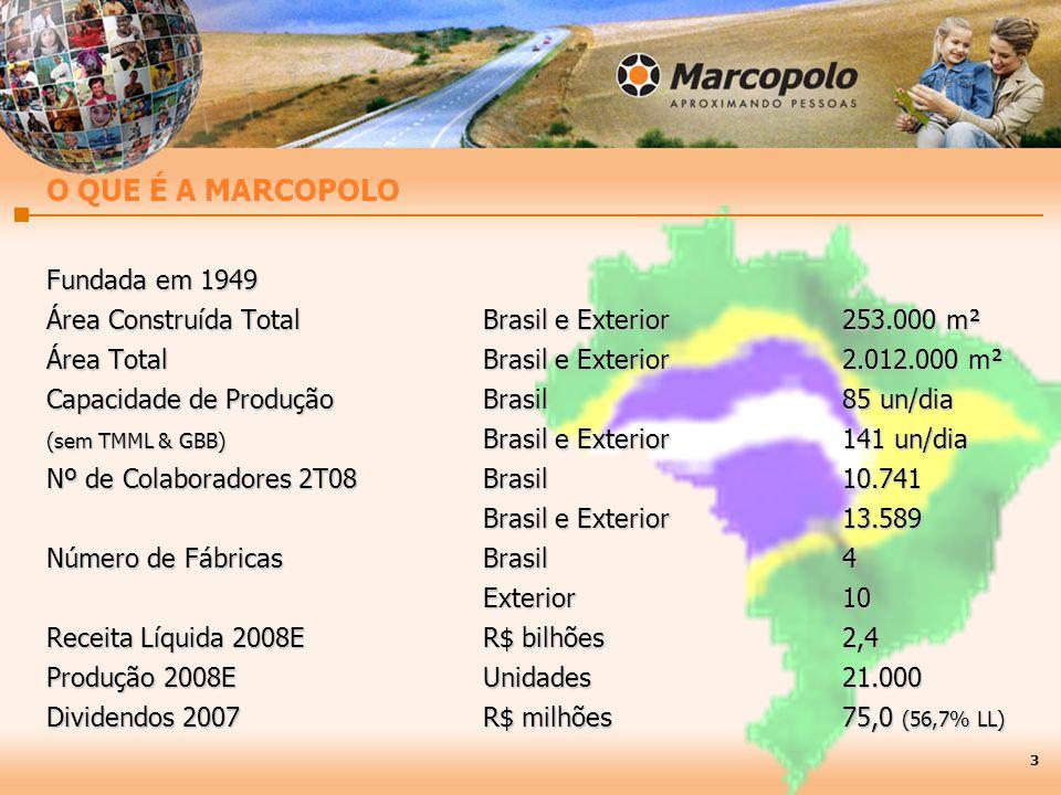O QUE É A MARCOPOLO Fundada em 1949